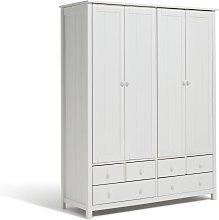 Habitat New Scandinavia 4 Door 6 Drawer Wardrobe -