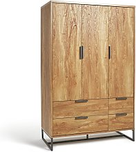 Habitat Nomad 3 Door 4 Drawer Wardrobe - Oak Effect