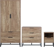 Habitat Nomad 3 Piece 2 Door Wardrobe Set - Oak