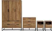 Habitat Nomad 4 Piece 3 Door Wardrobe Set - Oak