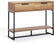 Habitat Nomad Console Table - Oak