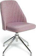 Habitat Nori Fabric Office Chair - Pink