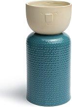 Habitat Novelty Face Vase - Teal