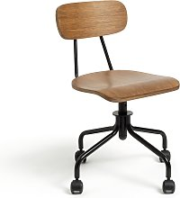 Habitat Old School Office Chair - Dark Oak
