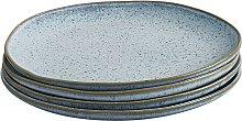 Habitat Olmo Speckled Set Of 4 Dinner Plates -