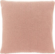 Habitat Paloma Knitted Cotton Cushion - Pink