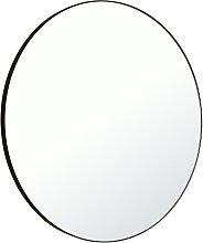Habitat Patsy Large Round Metal Mirror - Black