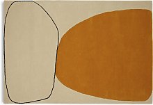 Habitat Pebble Wool Cut Pile Rug - 160x230cm - Gold