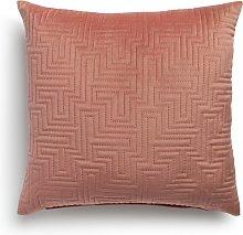 Habitat Pinsonic Textured Cushion - Dusky Pink -