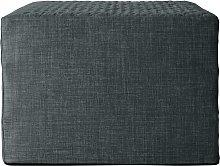 Habitat Prim Fabric Single Ottoman Bed - Charcoal