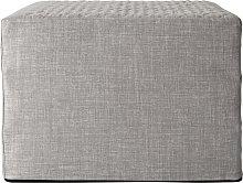 Habitat Prim Fabric Single Ottoman Bed - Light Grey