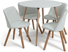 Habitat Quattro White Dining Table & 4 White Chairs