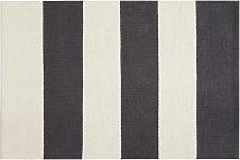 Habitat Raya Woven Cotton Rug - 120x80cm - Black &