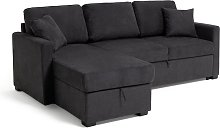 Habitat Reagan Left Corner Fabric Sofa Bed -