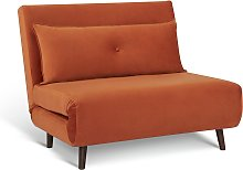 Habitat Roma Small Double Quilted Chairbed - Orange