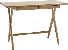 Habitat Roscoe Oak Desk with 2 Drawers