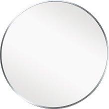 Habitat Round Metal Mirror - Silver