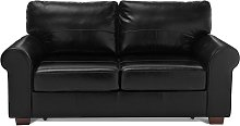 Habitat Salisbury 2 Seater Leather Sofa Bed - Black
