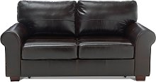 Habitat Salisbury 2 Seater Leather Sofa Bed - Dark