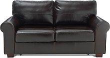 Habitat Salisbury 2 Seater Leather Sofa Bed - Dark