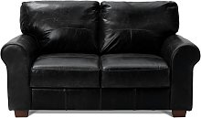 Habitat Salisbury 2 Seater Leather Sofa - Black