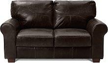 Habitat Salisbury 2 Seater Leather Sofa - Dark