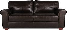 Habitat Salisbury 3 Seater Leather Sofa - Dark