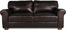 Habitat Salisbury 3 Seater Leather Sofa - Dark