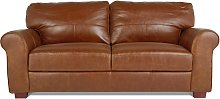 Habitat Salisbury 3 Seater Leather Sofa - Tan