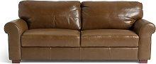 Habitat Salisbury 4 Seater Leather Sofa - Tan