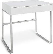 Habitat Sammy 1 Drawer Desk - White Gloss
