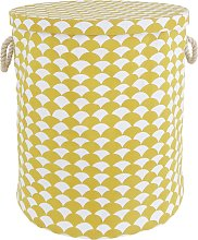 Habitat Scallop Laundry Bin - Mustard