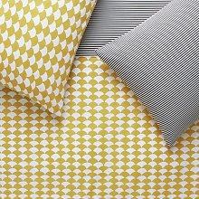 Habitat Scallop Mustard & Black Bedding Set -