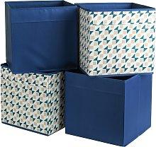 Habitat Set of 4 Square Plus Boxes - Blue & Pink