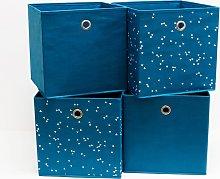 Habitat Set of 4 Square Plus Confetti Boxes - Blue