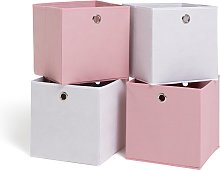 Habitat Set of 4 Squares Boxes - Baby Pink &