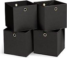 Habitat Set of 4 Squares Boxes - Black