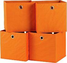 Habitat Set of 4 Squares Boxes - Orange