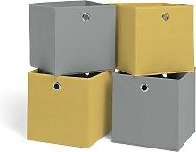 Habitat Set of 4 Squares Plus Boxes - Soft Grey &