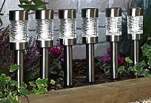 Habitat Set of 6 Stainless Steel Solar Stake Lights