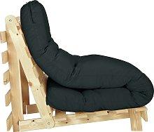Habitat Single Futon Sofa Bed with Mattress - Black