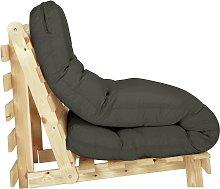 Habitat Single Futon Sofa Bed with Mattress - Grey