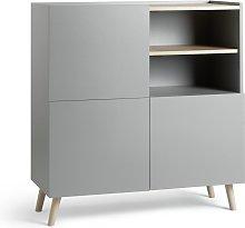 Habitat Skandi 3 Door Sideboard - Grey Two Tone