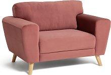 Habitat Snuggle Velvet Armchair - Pink