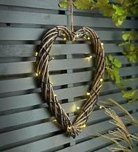 Habitat Solar LED Wicker Heart Light