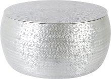 Habitat Sona Silver Storage Hammered Aluminium
