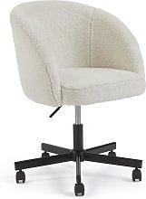 Habitat Sonny Fabric Office Chair - Black & White