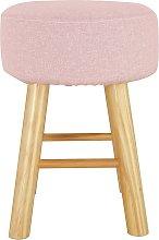 Habitat Sophie Small Fabric Footstool - Pink