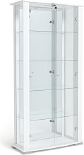 Habitat Stella 2 Door Glass Display Cabinet -