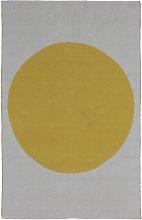 Habitat Sun Jacquard Rug - 120x180cm - Yellow